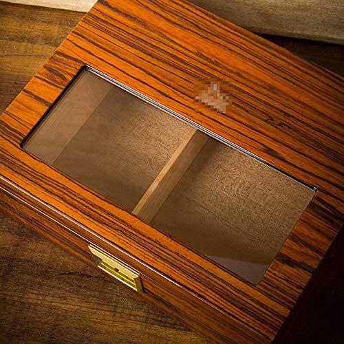 YONG FEI Zigarrenschachtel - Zigarrenschachtel importierter transparenter Fensterhumidor aus Zedernholz Zigarrenschachtel (Color : B) -