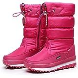 XYLUCKY Womens Frosty Snow Boots, Inverno Boot Impermeabile Allineato Pelliccia Caldi all'aperto Slitta Doposci