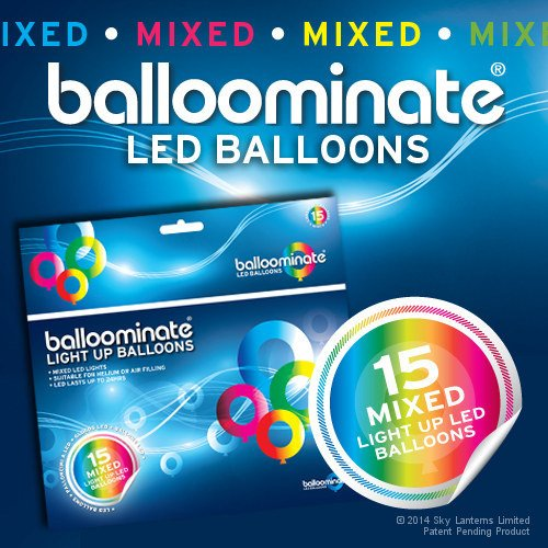 ed LED Light Up Balloominate Balloons. Great for Parties and Celebrations. ()