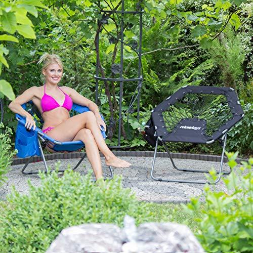 Zoom IMG-1 relaxdays bungee chair webster elastica