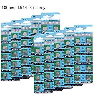 RcStarry 100 Stück AG13 LR44 1.5V Knopfzelle Batterien,vor allem für RcStarry Weinflaschen LED lichterkett