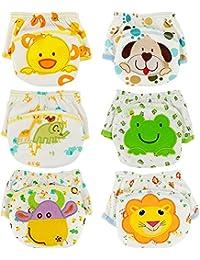 Tongchou 6pcs Bragas de Aprendizaje Calzones de Entrenamiento para Bebe Nina Nino