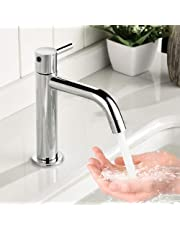 HOMELODY Stainless Single Lever Bathroom tap, Basin Faucet For Bathroom Chrome Finish, Sink Cock Taps For Bathroom, Foam Flow Bathroom Sink Faucet, Water Saving Sink Bathroom Faucet