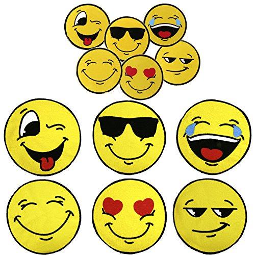 Preisvergleich Produktbild 6x Magisches Handtuch Set Emoji Smiley Magic Towel 30 x 30 Emojicon Lach Smile