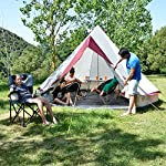 skandika Tipii II 8 Person Tent Festival Party Tent Teepee Wigwam with 250 cm Height, 3000 mm Water Column & Zip-Up… 11