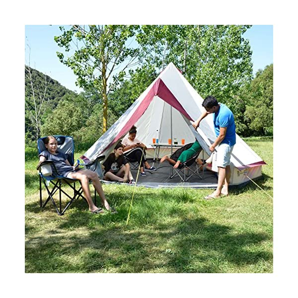 Skandika Tipii II 8 Person Tent Festival Party Tent Teepee Wigwam with 250 cm Height, 3000 mm Water Column & Zip-Up Walls 2