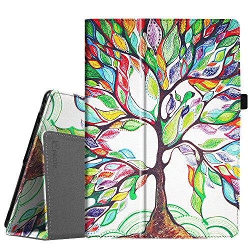 Fintie Lenovo Tab4 10 / Tab4 10 Plus Hülle - Folio Kunstleder Schutzhülle Tasche Etui Case mit Auto Schlaf/Wach Funktion für Lenovo Tab 4 10 / Tab 4 10 Plus (10 Zoll) Tablet-PC, Liebesbaum