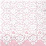 Sovie HORECA Serviette Mandy   Tissue-Servietten 40x40 cm   saugstarke und hochwertige Einweg-Servietten   ideal für Hochzeit & Feiern   100 Stück   Altrosa