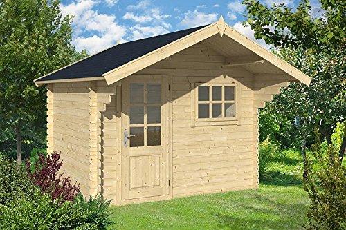 Gartenhaus LÜBECK Blockhaus 300cm x250cm - 28mm Holzhaus TOP-Qualität
