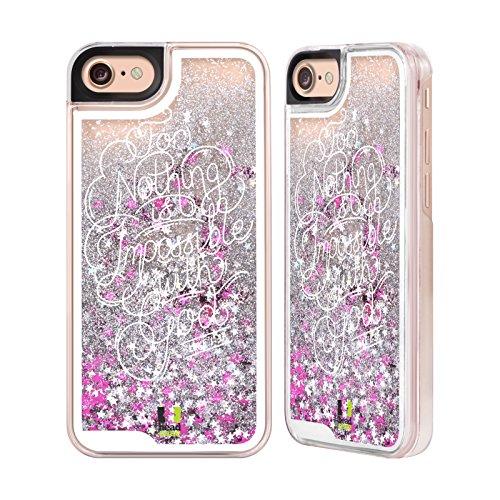 Head Case Designs Unmöglich Bekannten Versen Aus Der Bibel Silber Handyhülle mit flussigem Glitter für Apple iPhone 6 / 6s Unmöglich