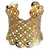 YAZILIND Retro- hohles Entwurfs-Gold überzog Wellen-Stulpe-Armband-Frauen-Schmucksachen