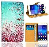 Huawei Honor 6 Handy Tasche, FoneExpert® Wallet Case Flip Cover Hüllen Etui Ledertasche Lederhülle Premium Schutzhülle für Huawei Honor 6 (Pattern 3)