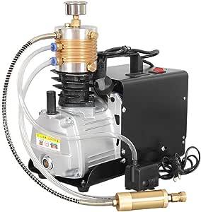 Topqsc Einstellbare Auto Stop 300bar 30mpa 4500psi Hochdruckluftpumpe Elektrische Luftkompressor Für Luftgewehr Gewehr Pcp Inflator Baumarkt