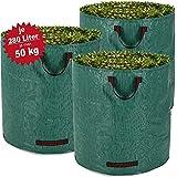 3 sacs à déchets de jardin 280L 50kg - Feuilles déchets jardin branches - Solide