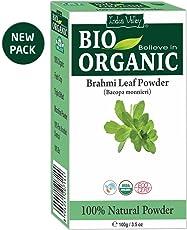Indus Valley 100% Organic & Chemical Free Brahmi Powder For Hair Cleanser & Healthy Hair 100Grams