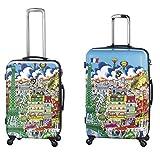 Equipaje, Maletas y Bolsas de Viaje - Premium Designer Maleta Rígida Set 2 Piezas - Heys Artista Fazzino Paris Trolley con 4 Ruedas Media + Trolley con 4 Ruedas Grande
