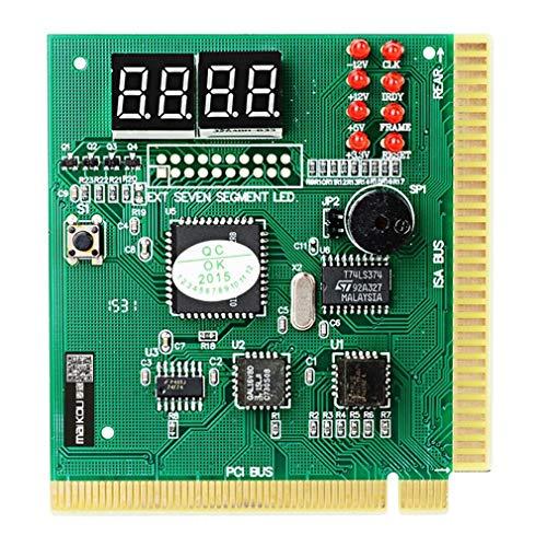73JohnPol Maikou 4 Digit Mainboard PCI PC Computer Motherboard Professionelle Diagnose Analyzer Karte Post Tester für Desktop PC (Farbe: grün) -