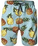 Bfustyle BFU Style Mens 3D Gedruckte Boardshorts Coole Hawaiian Blue Ananas Badehose für Sommerferien Urlaub