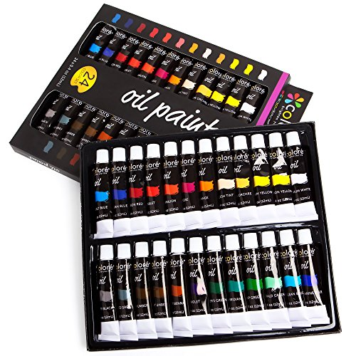 Colore Set di colori ad olio di alta qualità – Perfetto per paesaggi e ritratti – Ideale per artisti, studenti e principianti – Set di 24 colori ad olio ricchi di pigmenti prezzo