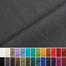 Holmar - Tela 100% lino - Prelavado - Translúcido - Por metro (gris pizarra)
