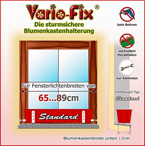 Vario-Fix Standard Haltebügel für 12cm Blumenkasten mit 65cm Spannstange