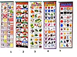 #9: Light Gear Kids Early Learning Wall Hanging 5 Different Charts for LKG to UKG Group