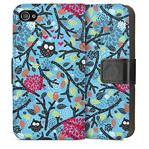 Apple iPhone 3Gs Housse étui coque protection Hibous Motif Motif Sideflip Sac