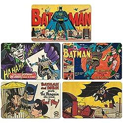 Logoshirt Juego de Tablas de Desayuno Batman - Juego de 5 Tablas de Picar DC Comics - Diseño Original con Licencia