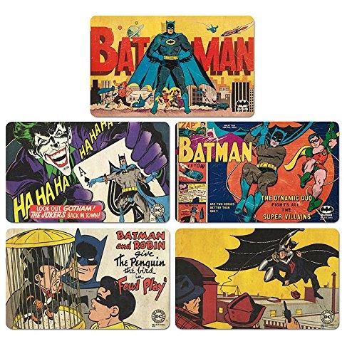 Set di taglieri Batman - Set di 5 taglieri DC Comics - design originale concesso su licenza - LOGOSHIRT