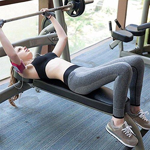 Vovotrade® Femmes Fitness Yoga Leggings Haute Taille Patchwork Skinny Push Up Pantalon Recadré Fonctionnement Vêtements Gris