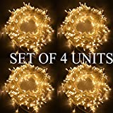 #2: The Kingdom Store Rice String Lights Warm White Color 10M For Decorative Purposes 10M To 100M Fairy Leds With 8 Pattern Operation
