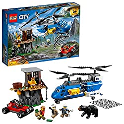 Lego 60173 City Police Mountain Arrest Set, Escape Buggy, Helicopter, Speed Chase, Playful Building Experiences