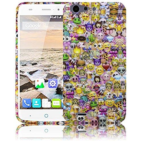 ZTE Blade V6 Emoji Smiley Silikon Schutz-Hülle weiche Tasche Cover Case Bumper Etui Flip smartphone handy backcover Schutzhülle Handyhülle thematys®