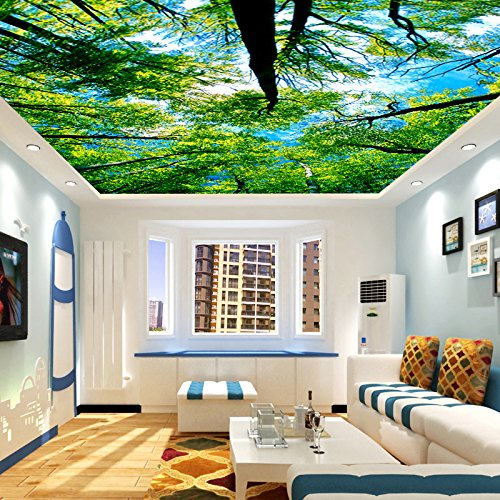 Wongxl 3D Holzdecke Decke Tapete Schlafzimmer Tapete Schlafzimmer  Wohnzimmer Wandbilder Große 3D Tap