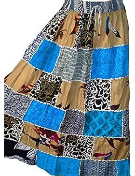 Falda Maxi hippie tribal de la falda del vientre del vientre Banjara NUEVO PATCHWORK