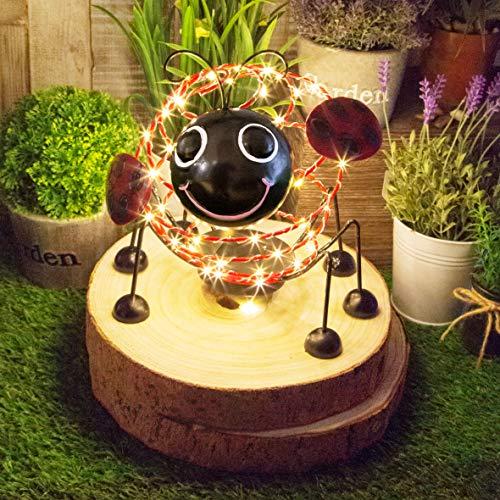 GardenKraft Solardraht mit 62 Micro-LEDs und 4D-Bewegungseffekt, Gartendeko