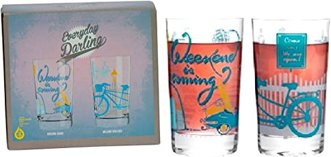 RITZENHOFF Everyday Darling Softdrinkglas , 2ER-SET Design Softdrink-/Wasser-/Trink Glas , V. Romo & M. Wüllner, A0373610