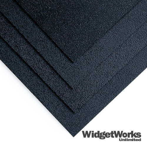 BLACK ABS Thermoform Plastic Sheets 1/8 x 18 x 18 Sheets - 4 Piece Bundle by WidgetWorks Unlimited LLC.