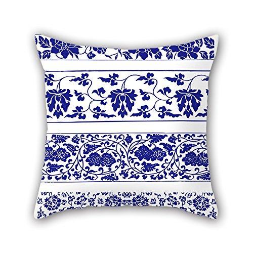 45,7x 45,7cm/4545cm di stile cinese blu e bianco porcellana throw Pillow Covers ,2lati ornamento e regalo per home Theater, Bench, ragazzo, seggiolino auto, divani, padre