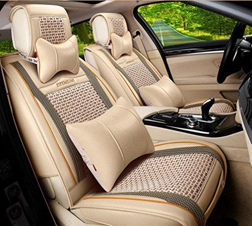DD Sommer-EIS-Seide All-Inclusive-Autositz-Sets Von Vier Jahreszeiten Gemeinsame Autositz Kissenbezug, Beige,beige