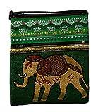 Brustbeutel aus Baumwolle Thai Muster mit Elefant