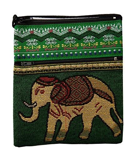 Preisvergleich Produktbild Brustbeutel aus Baumwolle Thai Muster mit Elefant