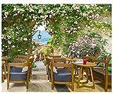 Yosot 3D Tapete Home Dekoration Hintergrund Europäischen Einfachen Romantischen Garten Rosen Blume Wand Wohnzimmer Sofa Tv Kinder Tapete-200cmx140cm