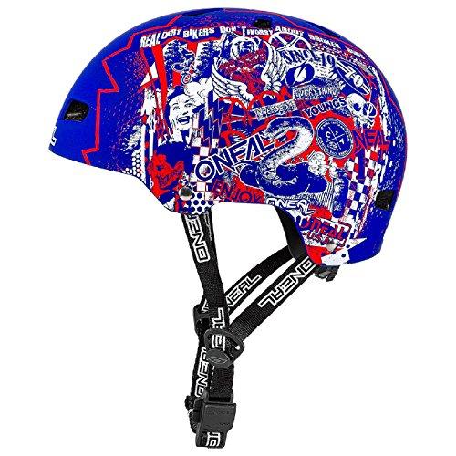 Preisvergleich Produktbild O'Neal Dirt Lid ZF Rift Fahrrad MTB BMX Helm Mountain Bike BMX FR Fidlock Magnet Verschluss, 0584-7, Farbe Blau, Größe M/L