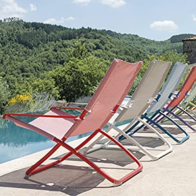 Emu - Snooze Liegestuhl - rot - A. Chiaramonte & M. Marin - Design - Gartenliege - Gartenstuhl - Sonnenliege - Sonnenstuhl - Terrassenstuhl von Emu bei Gartenmöbel von Du und Dein Garten