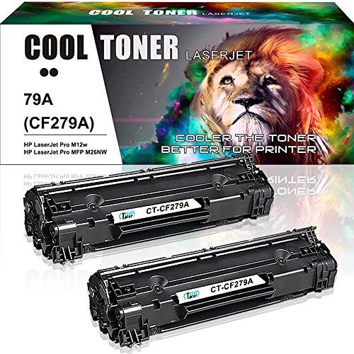 Cool toner compatibile toner cf279a per hp laserjet pro mfp m26nw m26a, hp laserjet pro m12w m12a,nero, confezione da 2 pezzi,1000 pagine