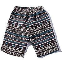 Hombres Pantalones de playa , ❤️ Manadlian Hombres de verano Pantalones de níquel de los troncos Parejas Playa Floral Bohe Bañador Talla extra