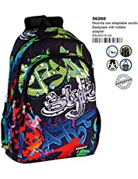 Montichelvo Double Backpack A.O. CMP Wembley Cartable, 43 cm, (Multicolour)