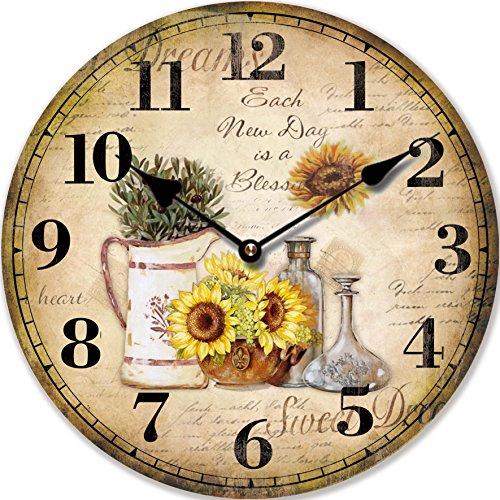 orologio da parete girasol moderno 30cm - tinas collection