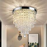 Depuley Lampe de Plafond Lustre Cristal K9 Design Moderne, Applique Plafonnier pour Salon Chambre à Coucher Salle à Manger et